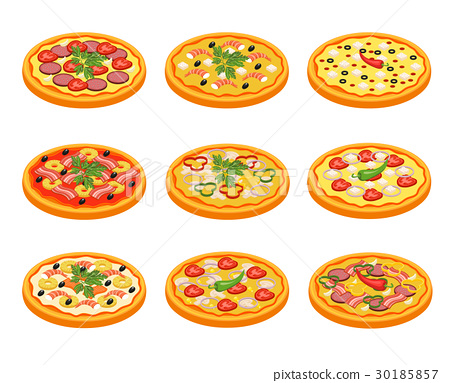 Pizza Icons Set 30185857