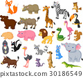 Wild animal cartoon collection 30186549