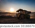coal-preparation plant. Big yellow mining truck at 30186670