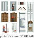elevator vector set 30186948