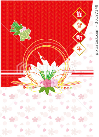 ceremonial paper strings, new year's card, material for new year's cards 30187349