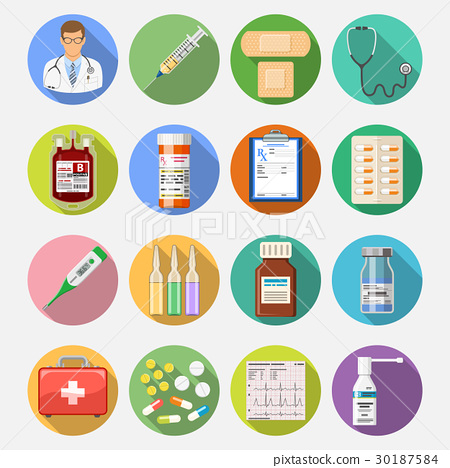 Set medical icons 30187584