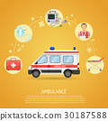 medical emergency ambulance concept 30187588