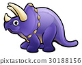 Triceratops Dinosaur Cartoon Character 30188156
