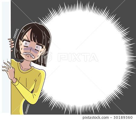 震驚的女人(帶氣球) 30189360