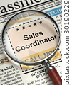 Sales Coordinator Wanted. 3D. 30190229