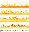 Fire Flame backdrop background set. Horizontal 30191878