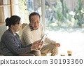 Photo old-fashioned old couple 30193360