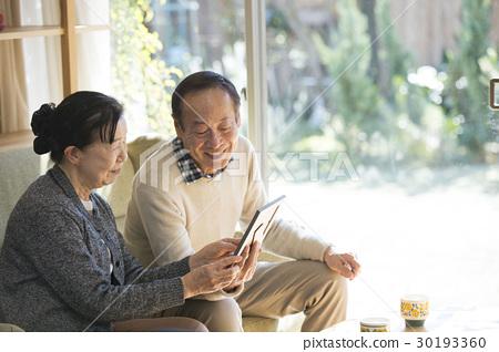 照片老式的老夫婦 30193360