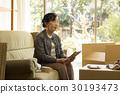 移動工作看到高級女性 30193473