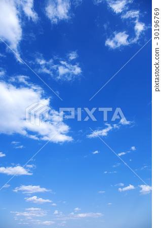 藍天天空雲彩春天天空背景材料4月拷貝空間 30196769