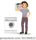 Man Doing Laundry 30196822