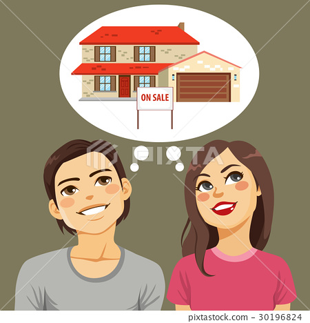 Couple Thinking House 30196824
