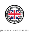 Made in England round rubber stamp for products 30199873