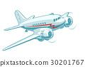 vector, cartoon, airplane 30201767