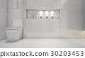 White water closet , 3d rendering 30203453