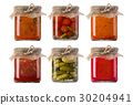jars of pickled vegetables 30204941