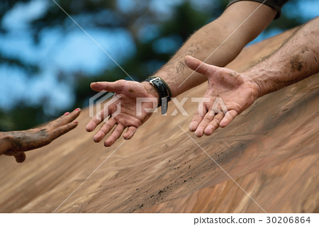 Giving a helping hand,help when overcoming hindran 30206864