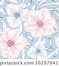 floral, pattern, vector 30207841