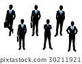 silhouette of businessman 30211921