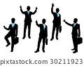 silhouette of businessman 30211923