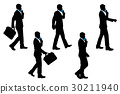 silhouette of businessman 30211940