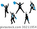 silhouette of businessman 30211954