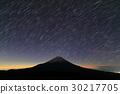 모토스 호반 · 竜ヶ岳에서 보는 새벽의 후지산과 밤하늘 30217705