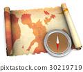 地图 罗盘 古老 30219719