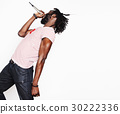 young handsome african american boy singing 30222336