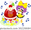 Cute girl and cherry jelly 30226684