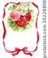ริบบิ้น,ช่อดอกไม้,กุหลาบ 30226806