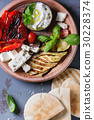 Ingredients for pita bread sandwich 30228374