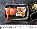 Sushi Set nigiri and rolls 30228417
