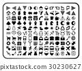 아이콘 여러가지 세트 (흑백) 30230627