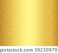 Golden background with damask ornament pattern 30230970