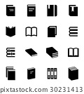 Vector black book icon set 30231413