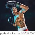 Afro american male boxer. 30232257