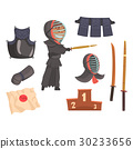 Japanese kendo sword martial arts fighter, armor 30233656