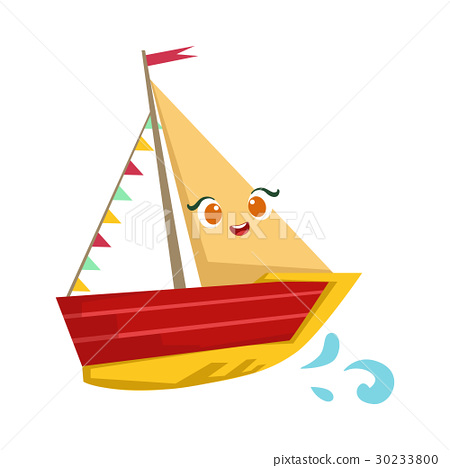 Sailing Yaht With Flag Garland, Cute Girly Toy 30233800