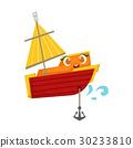 船 遊艇 錨定 30233810
