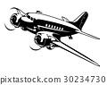 vector, cartoon, airplane 30234730