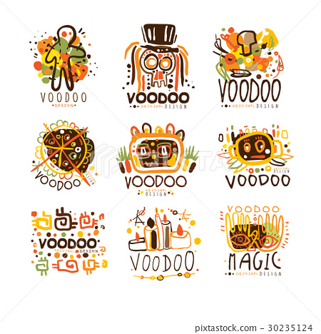 Voodoo and magic set for label design. Spiritual 30235124