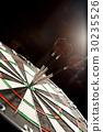 Darts board goal target in closeup 30235526