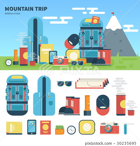 Equipment for mountain trip 30235695
