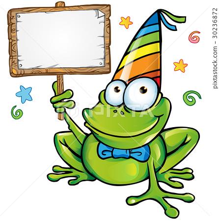 frog cartoon isolated on white 30236872