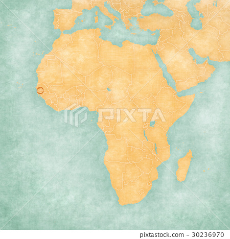 Gambia On Africa Map.Map Of Africa The Gambia Stock Illustration 30236970 Pixta