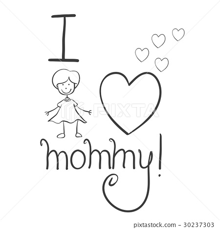 Collection mother day hand draw 30237303