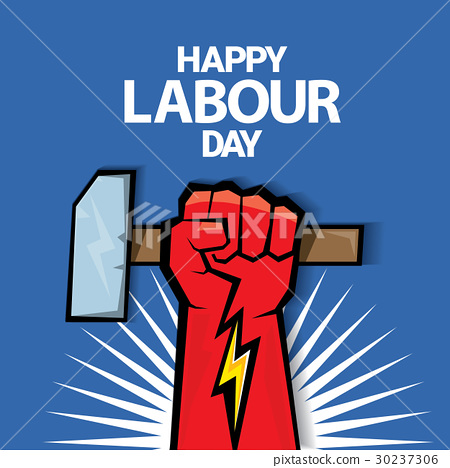 Happy labour day vector label 30237306