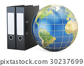 Global data storage, 3D rendering isolated 30237699